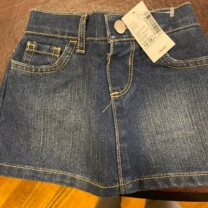 NWT Toddler Denim Mini-Skirt (with builtin shorts)